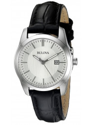 Bulova Women's Leather Silver Dial Watch 96M129
