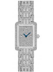 Bulova Women's Crystal Silver Dial Stainless Steel Watch 96L244