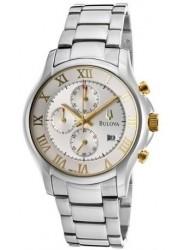 Bulova Women's Chronograph Silver Dial Stainless Steel Watch 98B175