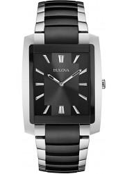 Bulova Women's Black Dial Two Tone Stainless Steel Watch 98L148