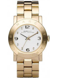Marc by Marc Jacobs Amy Women's White Dial Gold-Tone Watch MBM3056