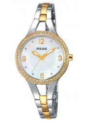 Pulsar Women's Mother Of Pearl Dial Two Tone Watch PH8120