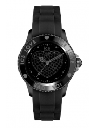Ice Watch Unisex Ice Love Black Dial Black Silicone Watch LO.BK.U.S.10