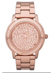 DKNY Women's Rose Gold Tone Dial Stainless Steel Watch NY8475
