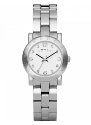 Marc by Marc Jacobs Women's Amy White Dial Stainless Steel Watch MBM3055