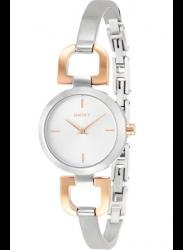 DKNY Women's Silver Dial Two Tone Watch NY2137