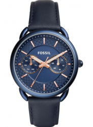 Fossil Women's Tailor Blue Dial Blue Leather Watch ES4092