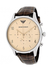 Emporio Armani Men's Classic Chronograph Brown Leather Watch AR1878