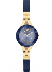 Emporio Armani Women's Navy Leather Watch AR7393