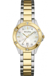 Bulova Women's Mother Of Pearl Dial Two Tone Watch 98R217