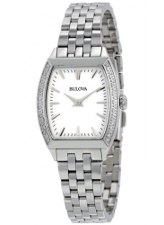 Bulova Women's Diamond Stainless Steel Watch 96R196
