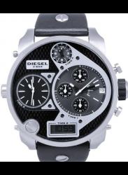 Diesel Men's Chronograph Black Leather Watch DZ7125