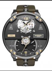 Diesel Men's Automatic Gunmetal Dial Brown Leather Watch DZ7365