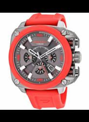 Diesel Men's BAMF Chronograph Red Silicone Watch DZ7368