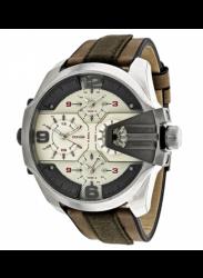 Diesel Men's Uber Chief Brown Leather Watch DZ7375