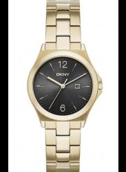 DKNY Women's Parsons Black Dial Gold Tone Watch NY2366