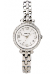 Fossil Women's Heather Silver Dial Silver Tone Watch ES3135