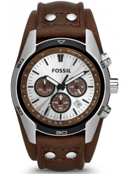 Fossil Men's Coachman Chronograph Brown Leather Watch CH2565