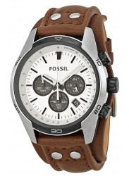 Fossil Men's Coachman Chronograph Brown Leather Watch CH2890