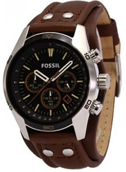 Fossil Men's Coachman Chronograph Brown Leather Watch CH2891