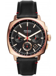 Fossil Men's CH3008 HAYWOOD Rose-Gold/Black leather Chronograph Watch