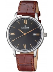 Charmex Men's Amalfi Black Dial Brown Leather Watch CX-3022