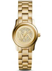Michael Kors Women's Petite Runway Champagne Dial Gold Tone Watch MK3304