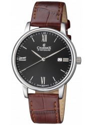 Charmex Men's Amalfi Black Dial Brown Leather Watch CX-3021