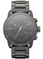 Diesel Women's Double Down Grey Dial Gunmetal IP Stainless Steel Watch DZ5339