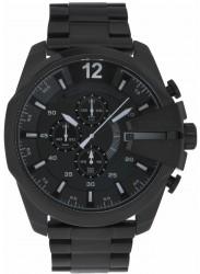 Diesel Men's Mega Chief Chronograph Black Stainless Steel Watch DZ4283