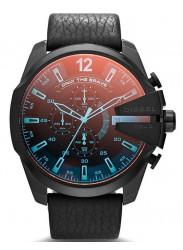 Diesel Men's Timeframe Iridescent Dial Black Leather Watch DZ1657