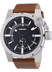 Diesel Men's Advanced Black Dial Stainless Steel Watch DZ4270