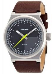 Diesel Men's Grey Dial Brown Leather Watch DZ1562