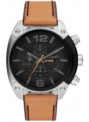 Diesel Men's Overflow Chronograph Black Dial Brown Leather Watch DZ4503