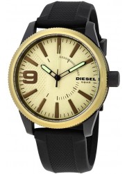 Diesel Men's Rasp Light Green Dial Black Rubber Watch DZ1875