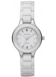 DKNY Women's White Dial White Ceramic Watch NY4886