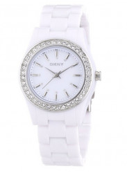 DKNY Women's Casual White Dial Plastic Watch NY8145
