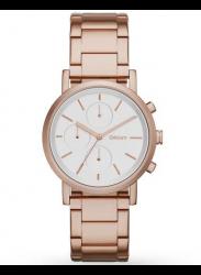 DKNY Women's Soho Silver Dial Rose Gold Tone Watch NY2275