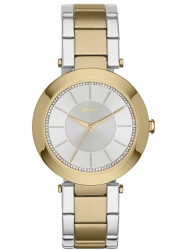 DKNY Women's Stanhope Silver Dial Two Tone Watch NY2334
