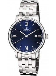 Charmex Men's Amalfi Blue Dial Stainless Steel Watch CX-3037