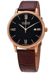 Charmex Men's Black Dial Brown Leather Watch CX-3031