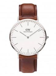 Daniel Wellington Men's St Mawes Brown Leather Silver DW00100021