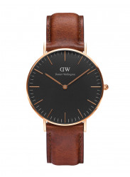 Daniel Wellington Women's St Mawes Brown Leather Rose Gold DW00100136