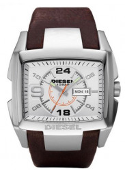 Diesel Men's Silver Dial Brown Leather Bracelet Watch DZ1273