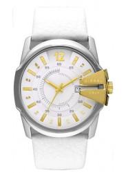 Diesel Men's Oversized White Dial Leather Watch DZ1476