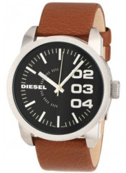 Diesel Men's Black Dial Brown Leather Watch DZ1513