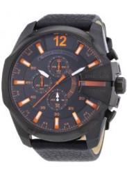 Diesel Men's Chronograph Black Leather Watch DZ4291