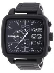 Diesel Men's Square Black Stainless Steel Watch DZ4300