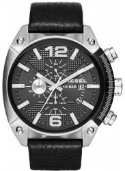 Diesel Men's Overflow Chronograph Black Dial Black Leather Watch DZ4341