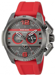 Diesel Men's Ironside Chronograph Red Silicone Watch DZ4388
